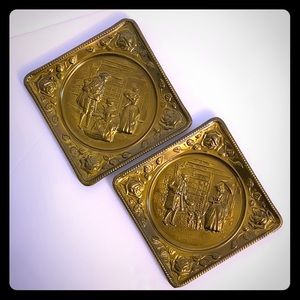 VINTAGE BRASS ENGLISH WALL PLATES, by ELPEC